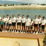 PRVENSTVO HRVATSKE 1992., 4+V, 2. mjesto, Mladen Predrijevac, Ivica Bilandžic, Damir Jakelic, Damir Hadžina, Damir Antolovic (kormilar)