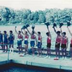 MEDITERANSKE IGRE, Becauire 1993., 4 - SM, Ninislav Saraga (HAVK Mladost), Marko Banović (HAVK Mladost), Sead Marušić (HAVK Mladost), Igor Velimirović (VK Croatia), 3. mjesto